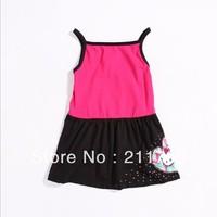 Children express sleeveless summer girls Fashion beautiful dress 5pcs/lot