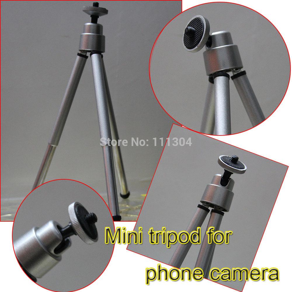 1PCS Mini Tripod Aluminum Metal Lightweight Tripod Stand Mount For Digital Camera Webcam Phone DV Tripod(China (Mainland))