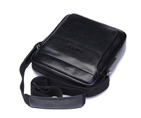 2013 fashion men soft leather messenger bags business man bag laptop bag crossbody male shoulder bags