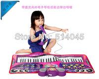 61 keys Microphone Keyboard Playmat Music blanket  childhood educational toys birthday gift piano dance mat FREE SHIPPING