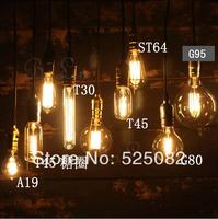 Retro bedroom lamp bulb chandelier art deco chandelier bar (light bulb + lamp + line + Chassis)Free shipping