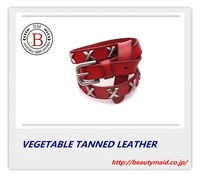 2013 genuine leather brand belt cowskin good quality 100% vegetable tanned leather belts for women