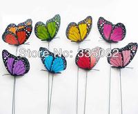 Cute 24pcs 12cm 3D Artificial Butterfly Fridge Magnet for Home Christmas party Wedding Decoration wholesale+Retail
