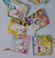 100pcs/lots  mini Christmas card greeting/Christmas Tree decoration cards-free shipping