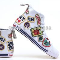 Fashion High-top Canvas Shoes Men's Sneakers Dsq Shoes  Man D2 lace-up Unisex Sneakers