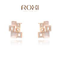 ROXI Christmas luxury opals Earrings,rose gold glated Austrian crystals 100% handmade fashion jewelry,2020040655