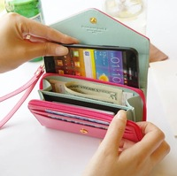 Free Shipping 1pcs/lot New Wallet Mobile Phone Bags Women's Fashion Lovely Crown Concise Wallet Purse Cluth Cute Card Holders