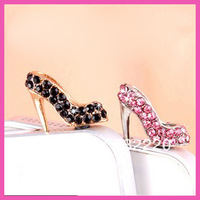 Free shipping new arrval high quality elegant high heels phone dust plug Can choose as your request