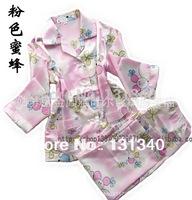 cartoon kids pajama set,children boys girls sleepwear,pure cotton baby nightwear,fashion child pyjamas,silk clothing suit