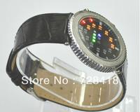 Brand New Hotsale Luxury Leather Band LED Lights Display Gift Watch Free+Drop Shipping 1pcs