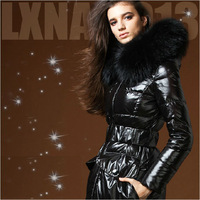 Fashion High-end Luxury Large Fur Collar Down Jacket Women Long Thick Ultra Slim Down Coat Female Parka