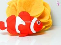 Rainbow fish USB flash drive real capacity creative animal USB pen driver free ship