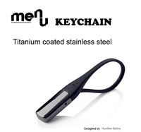 100% Brand New Car Key chain Titanium Series (Black / White Optional)