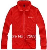 Men & women winter Supreme Edison Boxtee thick section zipper cardigan sweater jacket collar jacket,hip-hop sweatshirt