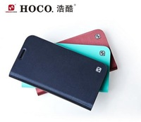 Wholesale  New Arrive Hoco original Real Side Flip TPU Leather Case Cover For   FOR GALAXY S4 Active i9500