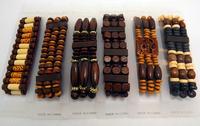 Leya 24pcs Vintage style Charm elastic Jewelry Mix Style Natural Bamboo Wood Bracelets Free Shipping