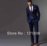2013 Free shipping high quality wool suit Custom made Men suit