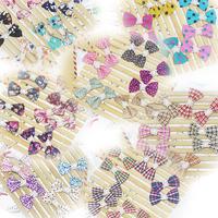 retail sale kids fashion cute bowknot hairclip colorful lace Hair Pins girls headwear.40colors girls  headwear