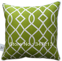 Free shipping 45 x45 cm square pillow case geometric pattern cushion cover for sofa and bedding decoration