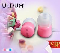 ULDUM chocolate shape in-ear earphone with mic for skype phone mp3 mp4