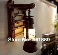 Hot!High Quality,Loft Warm Style,Chineses Retro Bedside Lamp,Living Room Aisle Creative E27 Wall Lamp,3 Option(A-C)FREESHIPPING