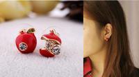 Min.order is $10 (mix order) Free Shipping  women   fashion lot of  Stud Earrings  Apple shape