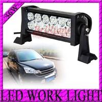 2pcs/lot 7.5inch 36W 12V 24V offroad LED light bar heavy duty 2500LM Off road work lamp Spot Flood Combo Beam Pattern LED bar