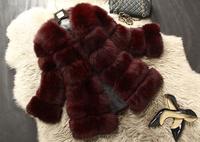 Gorgeous Genuine Whloe-hide Fox Fur Coat Nature Fox Fur Jacket Women  Fur Outerwear TP9026