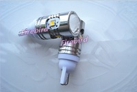 2 x T10 / W5W 3W white led bulb, samsung 2323SMD high Lumens, 10-30V Car / truck / bus clearance lights, parking lights