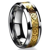 1pc/lot, Masonic Masons Symbol Tungsten Steel Power Gold / Silver Laser Tungsten Steel Signet Ring Der Ring des Nibelungen
