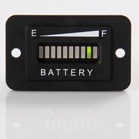 12V-24V LED Digital Battery indicator Gauge meter tri-colors rectangle golf cart