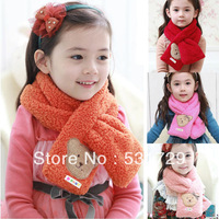 Child scarf female child scarf winter thermal baby bear plush scarf muffler scarf fancy for girl free shipping