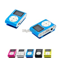 New Hot Sale Mini Metal Clip LCD Screen MP3 Music Player Support Micro SD/TF Card With Earphone&Mini USB 12806
