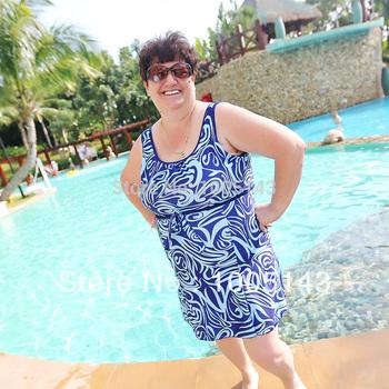 Ultralarge Large plus size quinquagenarian 100kg 6xl one piece swimwear swimsuit