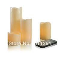 17% (8 Pcs/Sets) Battery Operated Yellow Color Christmas Wax Candle Wih Remote Control Function CDL3016R