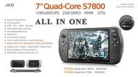 "JXD S7800b 7"" inch Newest Tablet PC Android 4.2.2 Gamepad  HD Touch Screen 2GB RAM 8GB/16GB Rockchip 3188 Quad Core Dual Camera"
