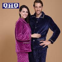 2014 QHQ Winter Pajamas Women Sleepwear Pyjamas Home Clothes Pijama Indoor Dressing Winter Dress Set Couple Clothes Family