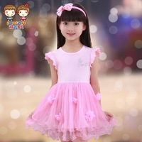 Girl dresses new fashion 2014 Kids Girls tutu princess dress veil children summer casual dress deals