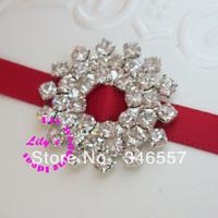 25mm snowflake rhinestone buckles for invitations, diamante ribbon sliders,DIY wedding supply, 100pcs/lot