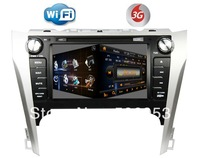 car dvd gps for TOYOTA CAMRY 2012 + steering wheel control+PIP+canbus+phonebook+map+RDS+wifi dongle+3G function