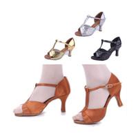 Free Shipping Gorgeous Women's Ladies Girls Latin Tango Ballroom Salsa Heeled Dance Shoes SS259  5cm High Heels