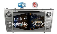 car dvd gps for TOYOTA CAMRY 2007-2011+ steering wheel control+PIP+canbus+phonebook+map+RDS+wifi dongle+3G function