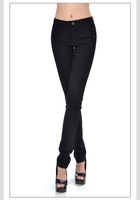 new arrival EE black women jeans pants slim lady pencil pants trousers free shipping