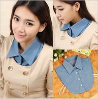 Denim fake false collar vintage female autumn and winter detachable collar shirt accessories 102