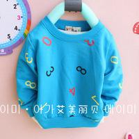 Free shipping  Baby Clothing  Cartoon figures round neck long-sleeved T shirt  Jacket  Boys and girls t shirt