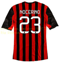 AC Milan Home #23 NOCERINO Thailand Quality UNIFORMS  2013/14 Season Soccer Jersey AC Milan  Home and Away customize available