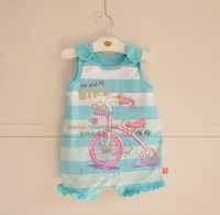 Summer infant 2013 children's clothing vest sleeveless one piece romper jumpsuit