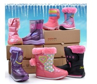 free shipping 2013 Chinese brand cotton-padded New Arrival female child boots shoes female boots genuine leather snow boots