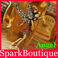 Min Order $10 (Mix Order) Lady's Necklace Little Fairy Necklace Wing Fairy Inlay Necklace Angel Wing Necklace