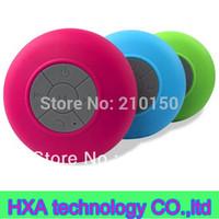 Hot sale mini wireless bluetooth waterproof shower speaker , hands- free bluetooth bathroom  speaker splash shower tunes